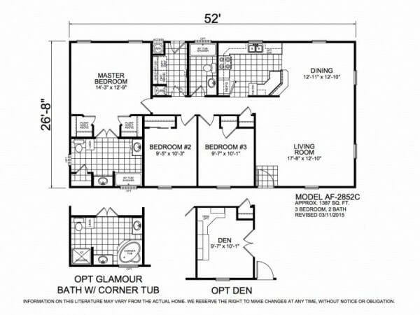 American Freedom 2852C Floorplan