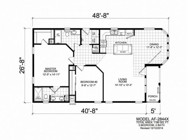 American Freedom 2844X floorplan