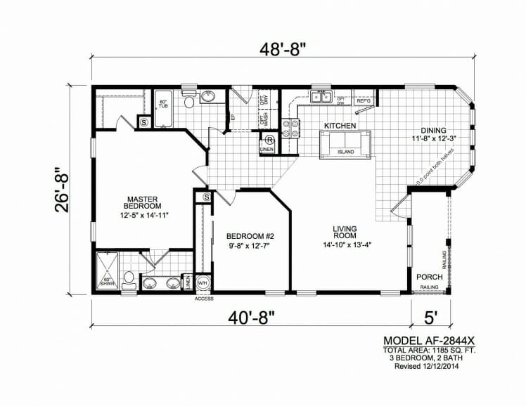 American Freedom 2844X floorplan