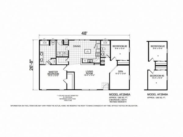 American Freedom 2848A floorplan