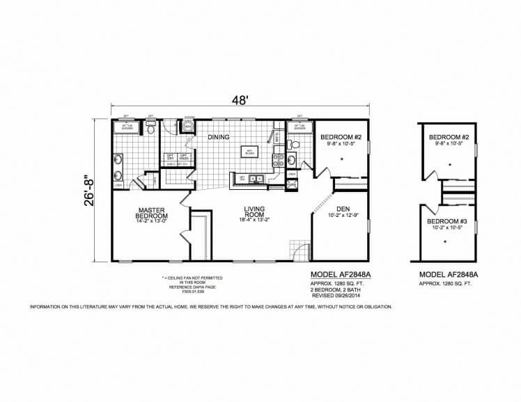 American Freedom 2848A floorplan