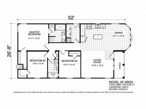 American Freedom 2852X floorplan