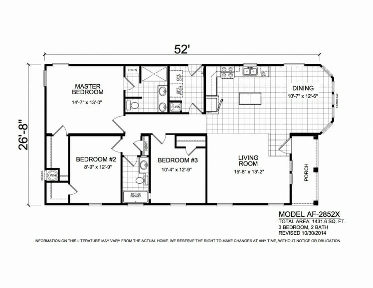 American Freedom 2852X floorplan