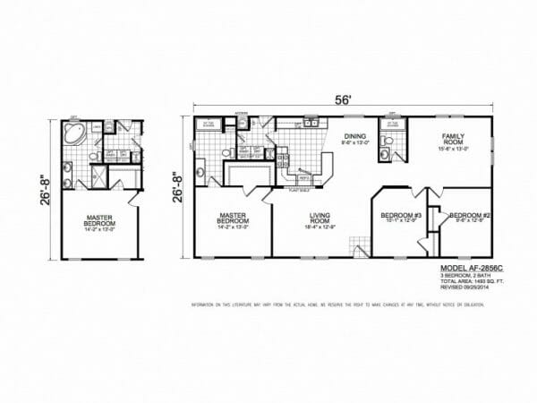 American Freedom 2856C floorplan