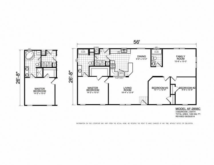 American Freedom 2856C floorplan