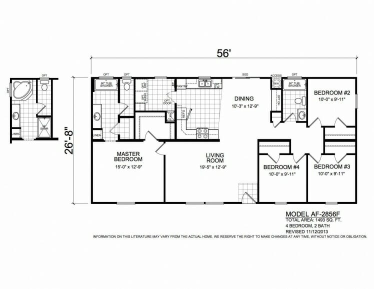 American Freedom 2856F floorplan