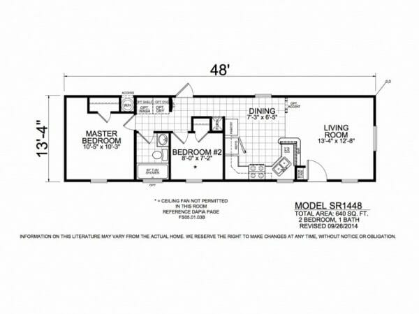 SR1448 Floorplan