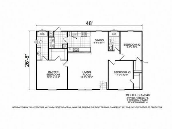 Sunrise 2842 Floorplan