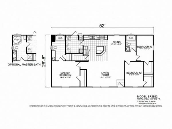 Sunrise 2852 floorplan